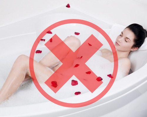không chạm nước sau khi làm hồng nhũ hoa